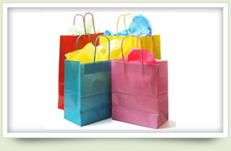 Shooping bags in different colors