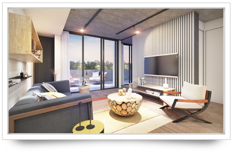 100 nicholson living room