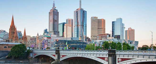 Melbourne Buildings and bridge