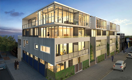 Radius apartment exterior
