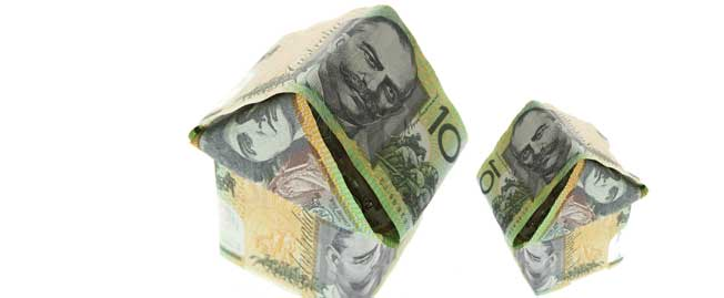 Australian Money house shape