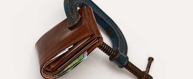 wallet with clamp