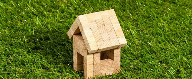 block house on grass